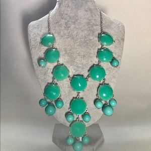 Green Turquoise Statement Necklace